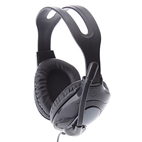 LH-900 Black Wired Full SizeStereo PC Headphone with Mic