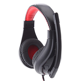 LPS-1520 Super Bass Comfortable Design Black Wired Stereo Music Headphone with Mic
