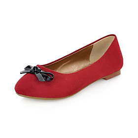 Lovely Suede Flat Heel Flats With Bowknot Party / Evening Shoes(More Colors)