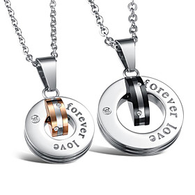 Fashionable Stainless Steel Lovers' Necklace