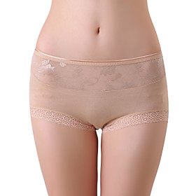 XZYD Almond High-waist Jacquard Lace Panties