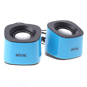 A2-QQ Blue Wired USB 2.0 Portable Digital Speaker For PC/Notebook/MP4/Mobile Phone
