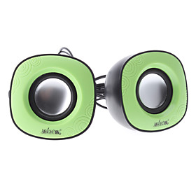 A4 Green Wired USB 2.0 Portable Digital Speaker For PC/Notebook/MP4/Mobile Phone