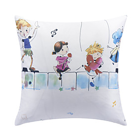 Cartoon Kids Polyester Decorative Pillow Cover