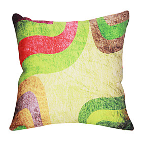 Colorful Pattern Cotton/Linen Decorative Pillow Cover