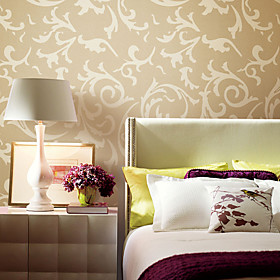 Classical Big Leaves Non-woven Wall Paper 1301-0020