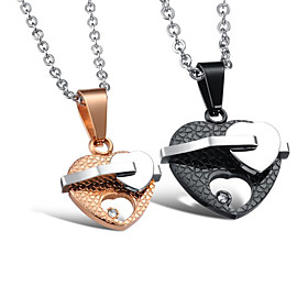 Lovely Stainless Steel Lovers' Necklace