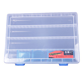 Transparent Lure Box Tackle Box (25 17.5 3.5cm)
