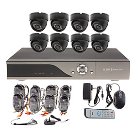 8 Channel CCTV Home Security System with 8 Indoor Sony CCD Camera