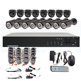 16 Channel CCTV Home Security System with 8 Outdoor Sony CCD Camera   8 Indoor Sony CCD Camera
