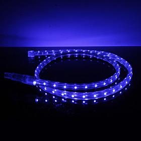 Waterproof 3.5W/M 3528 SMD Blue Light LED Strip Lamp (220V, Length Selectable)