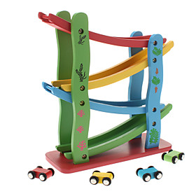 Wooden Toy Speed Racing Car Track for Kids