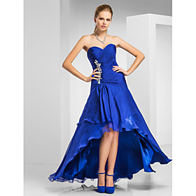 Trumpet/Mermaid Sweetheart Asymmetrical Chiffon Evening Dress