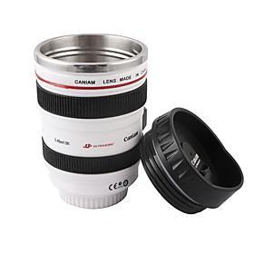 Novelty Simulation White Cannon EF 24-105mm Camera Lens Style Mug Cup
