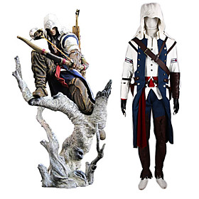 Assassin's Creed III Connor Assassin Uniform Cosplay Costume(White Ver.)