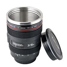 Novelty Simulation Cannon EF 24-105mm Camera Lens Style Mug Cup