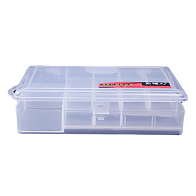 Transparent Lure Box Tackle Box (19 13.5 3.5cm)