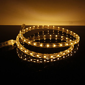 Waterproof 3.5W/M 3528 SMD Warm White Light LED Strip Lamp (220V, Length Selectable)