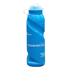 ROSWHEEL 700ML Extruded Plastic Water Bottle with Dustproof Cover 51398-BLU
