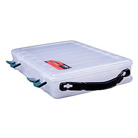 Transparent Portable Double Sides Lure Box Tackle Box (29 19 6cm)