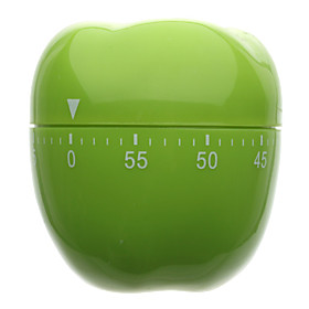 Green Apple Shaped 60-Minute Kitchen Cooking Mechanical Timer