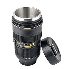 Novelty Simulation 1:1 Nikon AF-S 24-70mm Camera Lens Style Retractable Mug Cup