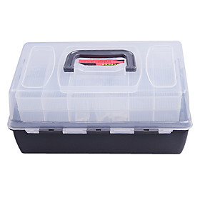 Portable Double-Layer Lure Box Tackle Box (30 18 15cm)