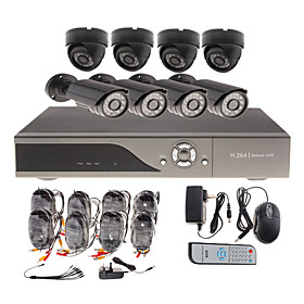 8 Channel CCTV Home Security System with 4 Indoor Sony CCD Camera   4 Outdoor Sony CCD Camera