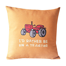 Country Tour Cotton/Linen Decorative Pillow Cover