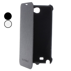 Backup Power for Samsung N7100 Galaxy Note II with Leather (Black White, 3800 mAh)