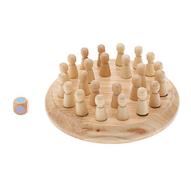 Wooden Color Memory Chess Educational Toy for Kids