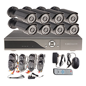 8 Channel CCTV Home Security System with 8 Outdoor Sony CCD Camera