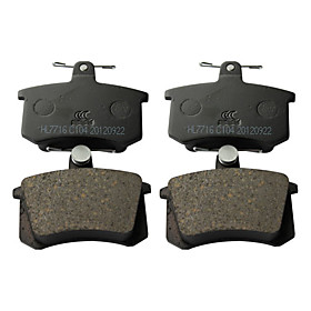 Rear Ceramic Brake Pad Set for Alfa Romeo 164, Audi 80, Audi 90, Audi 100, Audi 200, Audi 5000
