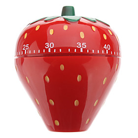 Strawberry Shaped 60-Minute Kitchen Cooking Mechanical Timer
