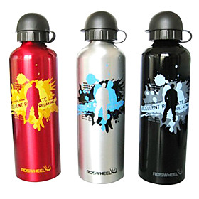 ROSWHEEL 750ML Aluminum Alloy Outdoor Sports Bottle with Dustproof Cover 52133