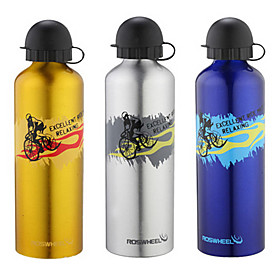 ROSWHEEL 750ML Aluminum Alloy Outdoor Sports Bottle with Dustproof Cover 52136