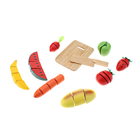 Vegetables Fruit Dicing Play House Wooden Toys