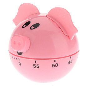Pig Style 60-Minute Kitchen Cooking Mechanical Timer