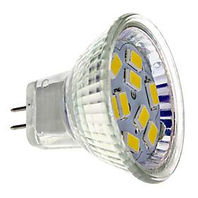 MR11 4W 9x5730SMD 400-430lm 2700-3000K luz blanca cálida Bombilla LED Spot (12 V)