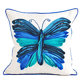 Classic Butterfly Cotton Decorative Pillow Cover