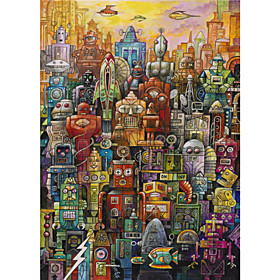 Printed Art Cartoon Robo Dootles poster by Bill Bell