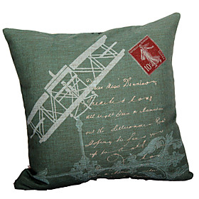 Retro Airplane Cotton/Linen Decorative Pillow Cover