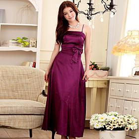 Women's Plus Size Strap Bow Decor Maxi Evening Dress
