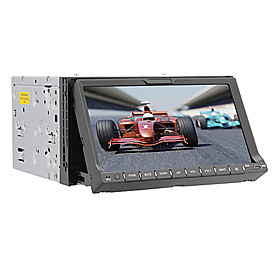 "Venda Por Atacado 7 ""2 din tela de toque LCD DVD player do carro in-dash com bluetooth, gps, ipod-entrada, rds, rádio estéreo"