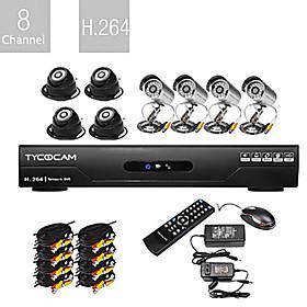 vendita all'ingrosso Set di 8CH H.264 CCTV DVR (8 CMOS telecamere a visione notturna)