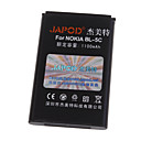 Accessories for Mobile Phones Japod BL-5C Replacement 3.7V 1100mAh Li-Ion Battery for Nokia 1100/N91/E50   More