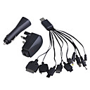 10in1 USB ACCar Power ChargerAdapters for Cellphones (UK Plug100~240V)