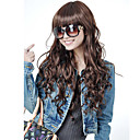 wholesale Capless Extra  Long High Quality Synthetic Nature Look  Brown Curly Hair Wig (0463-432)