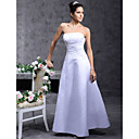 wholesale A-line Strapless Floor-length Satin Wedding Dress (YCF123)