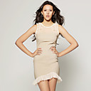 wholesale Hem Shoulder Mesh Sleeveless Dress / Women's Dresses (FF-C-CC1288006)